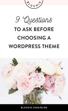 help choosing wordpress theme