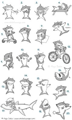 Oh, Dakuwaqa! - The Shark comics and cartoons: Shark catalog #1 - which would you like on your t-shirt or mug?