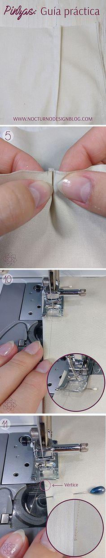 Cómo cerrar pinzas. Tutorial de costura. Técnicas de costura. Costura fácil. Cómo coser.