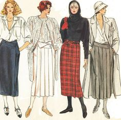 80s Vogue Basic Design Sewing Pattern 1466 Womens by CloesCloset