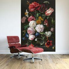 Fotobehang Stilleven bloemen is een van de mooiste werken uit het rijksmuseum. Maak een prachtig interieur met dit stilleven op je muur. Dit Fotobehang is zelfk