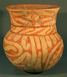 Beautiful Ban Chiang earthenware pot from Thailand