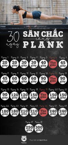 """Luyện tập với động tác Plank trong 1 tháng sẽ giúp bạn """"đánh bay"""" mỡ thừa và sở hữu cơ bụng khỏe khoắn, quyến rũ đúng chuẩn."""