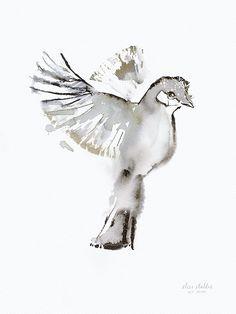 Limited edition, signed and numbered art print by Elise Stalder. Number Art, Amazing Art, Photo Art, Illustration Art, Watercolor, Bird, Art Prints, Artist, Instagram Posts
