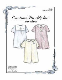 Fun And Easy Sewing Projects For Kids Smocking Plates, Smocking Patterns, Childrens Sewing Patterns, Clothing Patterns, Sewing Ideas, Sewing Crafts, Heirloom Sewing, Baby Boy Fashion, Vintage Patterns