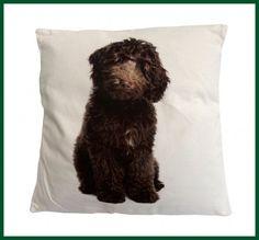 Hunde Kissen Labradoodle Mars & More Leinen Look 50*50 Wohntextilien Kissen und Kissenhüllen Kissen mit Füllung