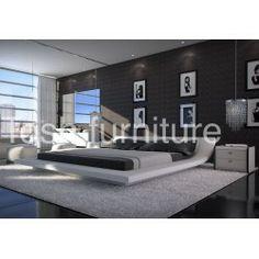 Modern Nerius White Platform Bed
