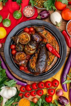 Dolmeh Bademjan - Stuffed Eggplant Recipe - Stuffed Aubergines Persian Style | igotitfrommymaman.com Persian Eggplant Recipe, Eggplant Recipes, Middle Eastern Dishes, Food Wallpaper, Iranian Food, Health Eating, Veggie Dishes, Stuffed Hot Peppers, Nutritious Meals