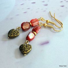 Red Sea Earrings by MangoTease