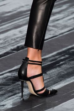 """Leather, leather, leather ~ J. Mendel Spring 2015 #fashion"""