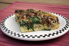 *yields 4 portions Ingredients: olive oil 8 oz package of pre-sliced mushrooms garlic clove, minced (add 2 for extra garlic flavor) 1 1/2 cup spinach, chopped 8 eggs 2 tablespoons of milk (can substitute heavy cream) salt & pepper to taste  Instructions: pre-heat oven to 400 degree Fahrenheit. heat a drizzle of olive oil …