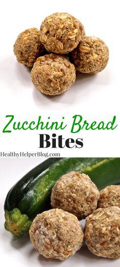 Zucchini Bread Bites from Healthy Helper...HCLF vegan zucchini bread bites perfect for snacking on! Gluten-free and fruit-sweetened, too! [vegan, gluten-free, high carb low-fat vegan, HCLF, zucchini, zucchini bread, no-bake, snacks, dessert, healthy food, healthy snacks, sugar-free, no added sugar, clean eating]