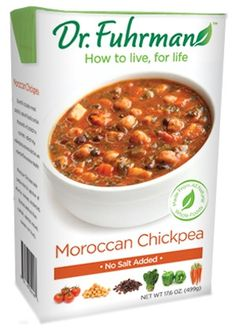 Dr. Fuhrman's Ready to Serve Soup - Moroccan Chickpea
