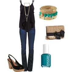 """girls night out"" by ohsnapitsalycia on Polyvore"