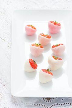 yogurt covered strawberries!