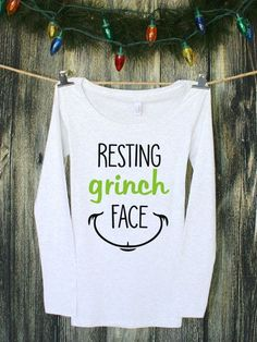 52a0cf4fa Resting Grinch Face | Graphic Tee | Funny Tshirts | Womens Christmas Shirts  | Christmas Shirts