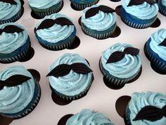 Mustache Cupcakes - www.allthatfrost.com