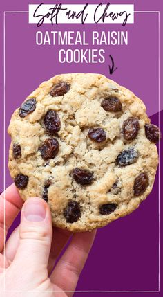 These soft and chewy oatmeal raisin cookies are like a warm, cozy hug! Easy to make in 30 minutes with everyday ingredients, you don't have to chill the cookie dough! Includes directions for gluten free oatmeal raisin cookies and how to freeze the cookie dough for later. #oatmealraisincookies #cookies #christmascookies #nochillcookie Oatmeal Raisin Cookies, Chocolate Chip Cookies, Easy No Bake Desserts, Delicious Desserts, Best Cookie Recipes, Baking Recipes, Vegan Recipes, Homemade Snickers, Birthday Desserts