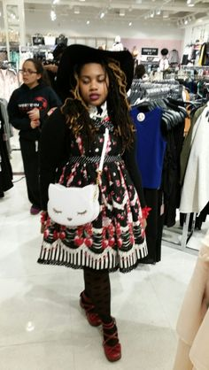 Harajuku Fashion, Kawaii Fashion, Punk Fashion, Lolita Fashion, Fashion Looks, Lolita Goth, Estilo Lolita, Lolita Dress, Alternative Girls