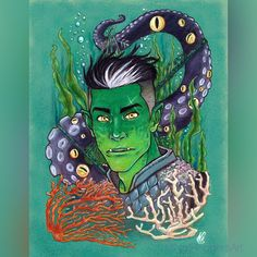 @thatNatRodgers posted to Instagram: UK'OTOA (Uk'otoa Uk'otoa) Really curious how things will pan out with Fjord's former patron. Some Fjord art from last year. I really gotta dig back into traditional pieces. #CriticalRoleFanart #Fjord #DnD #TheMightyNein #CriticalRole #dungeonsanddragons Critical Role Fan Art, Dungeons And Dragons, Traditional, Fictional Characters, Instagram, Fantasy Characters