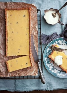 What Katie Ate: Passionfruit tart and fresh cream