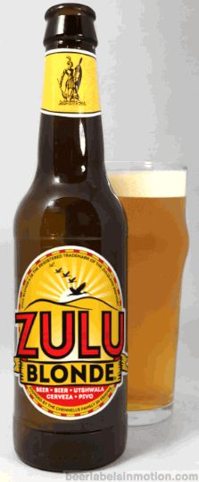 Zulu Blonde Zulu Blonde is brewed by Zululand Brewery in Eshowe, South Africa. This brew quickly became one of my favorite light bodied beers and I was sad when I ran out of it. It's not overly sweet and goes down smooth with a tiny hint of hop aftertaste. Hopefully they expand their distribution to the US soon because I want more!