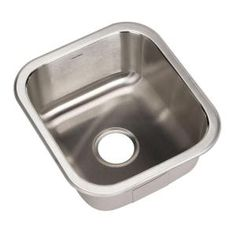 HOUZER, Club Series Undermount 16-1/4x17-15/16x8 0-Hole Square Single Bowl Bar/Prep Sink, MS-1708 at The Home Depot - Mobile