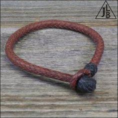 $55 8 Strand Herringbone Braid Leather Bracelet