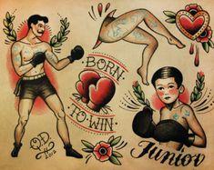 tattoo old school vintage - tattoo old school ` tattoo old school black ` tattoo old school traditional ` tattoo old school men ` tattoo old school femininas ` tattoo old school black vintage ` tattoo old school design ` tattoo old school vintage Boxer Tattoo, Hawaiianisches Tattoo, Flash Tattoo, Clown Tattoo, Jesus Tattoo, Tattoo Life, Tattoo Drawings, Tattoo Sketches, Tattoo Quotes