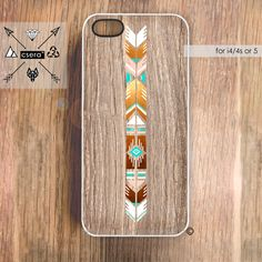 iPhone Case Wood Print, Unique iPhone 5 Case, Geometric Case - Native American Style iPhone 4 Cover. $19.99, via Etsy.