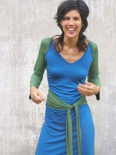 Wrap dressLong sleeves womens dressConvertible dress6 by SHIHAR,