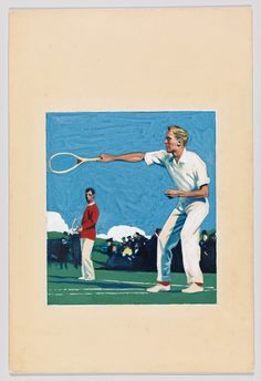 Edward Hopper (1882-1967), Tennis Players, 1916–20. Opaque watercolor and graphite pencil on board. Whitney Museum of American Art, New York; Josephine N. Hopper Bequest 70.1613. © Heirs of Josephine N. Hopper, licensed by the Whitney Museum of...