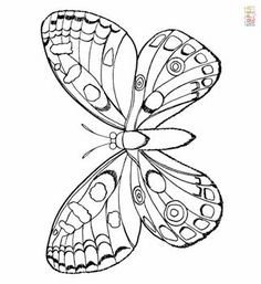 Seniors Activities Ideas Art Projects Printer Projects New York Bug Crafts, Camping Crafts, Butterfly Template, Butterfly Pattern, Spring Crafts For Kids, Art For Kids, Caterpillar Craft, Spring Coloring Pages, Butterfly Coloring Page