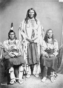 Crow Tribe - Long Horse, Blackfoot, White Calf - about 1863