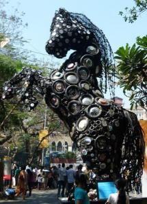 Kala Ghoda Arts Festival in Bombay, India.
