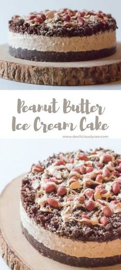 #raw #vegan Salted Caramel and Peanut Butter Ice Cream Cake from Deviliciously Raw