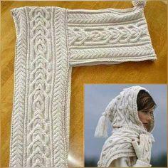 Schals mit Kapuze - optimale Ma e wovens Schals mit Kapuze - Ma e Kapuze Ma e mit optimale Schals wovens Knitting Designs, Knitting Patterns Free, Free Pattern, Crochet Patterns, Knitting Charts, Gilet Crochet, Crochet Baby, Knit Crochet, Woven Wrap