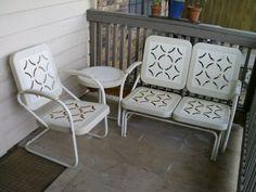 vintage patio furniture - I loved glider swings!