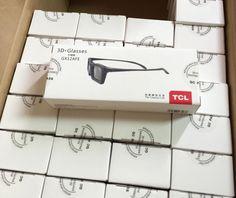20pcs Active shutter 3D glasses For TCL V8200 P7200 F3300 V7300 E5000 P6100 E5200 series GX12AFE general GX12AFD GX13AF GX12AFC