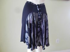 Argentine Tango metallic silver and black Skirt by COCOsDANCEWEAR