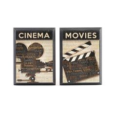 Wood Cinema & Movie Plaque #kirklands #lightscameradecorate