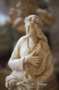 Antique French St Cecilia Statue Pieraccini by edithandevelyn