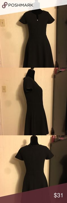 Ann Taylor lil Black Fitted Dress Very nicely fitted waist & Flared skirt. Rubbed material is very exquisite Ann Taylor Dresses