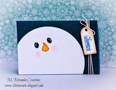 """M. Miranda Creations: Guest Designing for My Craft Spot - Christmas Inspiration  2 1/2"""" X 3 3/4"""" Gift Card Holder"""