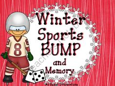 """Winter Sport Games: BUMP and Memory Freebie from Sweet Integrations...With a Taste of Technology on TeachersNotebook.com -  (11 pages)  - With the big winter sports event coming up in February, I have the perfect preview product for your class.   """"BUMP"""" with a Winter Sports theme...I've included two different Bump addition games with themed  markers. I've also added blan"""