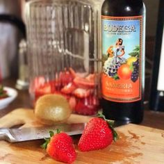Preparing a delicious Sangria for tonight's #CincodeMayo celebration with the BFF! #bodegasangria