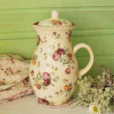 """Купить Кувшин """"Розочки"""" - комбинированный, кувшин, кувшины из глины, кувшин для воды, ваза, розочки, цветы"""