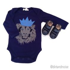 Appaman Onesie fit for a tiny king paired with cool Old Soles black leather sneaker booties.