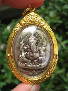Hindu dog god | Hindu god Lord Ganesh OM brass PENDANT necklace amulet
