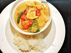 Easy Thai Panang Curry with Chicken- tastes just like the restaurant curry! Also great with beef or pork.